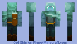 Monument Dweller Archer Minecraft Skin