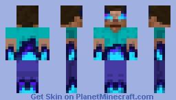 ICEWATER Herobrine Minecraft Skin