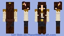 werewolf pirate girl Minecraft Skin