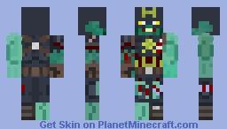 Zombie Captain America Skin Minecraft Skin