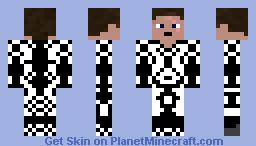 White and Dark Knight Minecraft Skin