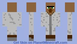 White Villager Minecraft Skin - Villager skin fur minecraft pe