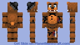 Withered Freddy - Five Nights at Freddy's 2 (Alts. in Description) Minecraft Skin