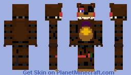 FNaF Custom ~ Withered Rockstar Freddy ~ Minecraft skin! [Re-uploaded] Minecraft Skin