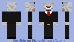 wolf in smoking Minecraft Skin