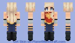 Cassie Sandsmark - Wondergirl Minecraft Skin