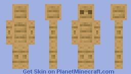 wooden man Minecraft Skin