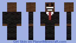 Wool Face Man Minecraft Skin