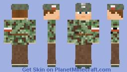 WW2 Armia Krajowa Courier (SS Splinter Pattern Camouflage) Minecraft Skin