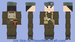 WW2 British Royal Marine Commando Minecraft Skin