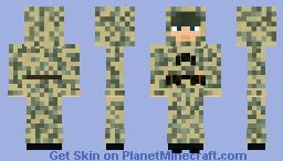WW2 Soviet Infantry Scout (Birch Camoflage) Minecraft Skin