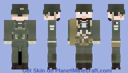 WW2 U.S Airborne Paratrooper (11th Airborne Division) Minecraft Skin