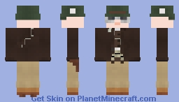 WW2 U.S. Armored Recon Officer (25th CRS (Mech), 4th Armored Division) Minecraft Skin