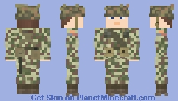 WW2 U.S Infantry (2nd Armored Division Hell on Wheels, 41st Armored Infantry Regiment, Normandy 1944) Minecraft Skin