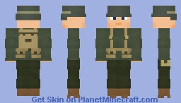 WW2 U.S Infantry(M43 combat uniform, Redo) Minecraft Skin