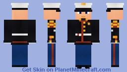 WW2 USMC Dress Blue Minecraft Skin