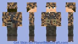WW2 Waffen SS Infanterie (1st SS Panzer Division Leibstandarte SS Adolf Hitler) Minecraft Skin