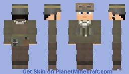 WW2 Wehrmacht Feldgendarmerie Military Policeman Motorcycle Dispatch Rider Minecraft Skin