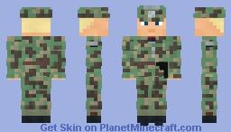 WW2 Wehrmacht infanterie Major (Italian Camo) Minecraft Skin