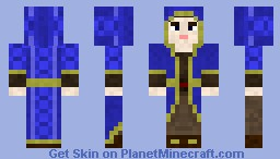 Blue Scribe | 3D Hood | Minecraft Skin