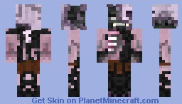 Withered zombie pigman Minecraft Skin