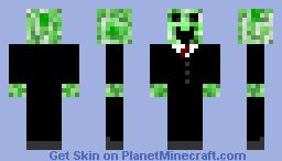 Happy creeper with tux Minecraft Skin