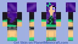 Purple Hair Girl :D Minecraft Skin