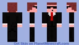 Matrix Agent Smith Minecraft Skin