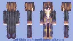 「Spilling over alone, chasing shadows forever」 Minecraft Skin