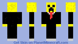 Yellow Creeper In A Suit Minecraft Skin