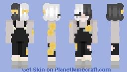 Yellow flower girl minecraft skin (overalls) Minecraft Skin