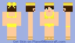 Tini Bikini-yellow-brunette Minecraft Skin
