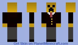 Yellow Creeper! Minecraft Skin
