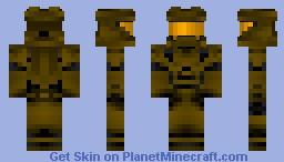 Halo 4 Spartan (yellow) Minecraft Skin