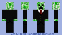 Creeper wearing a suit Minecraft Skin