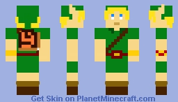 8-Bit Young Link Ocarina of Time Minecraft Skin