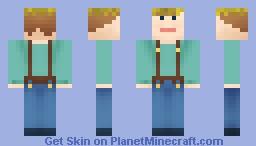 Humble Farmboy With Straw Hat Minecraft Skin