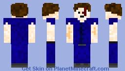 A dude with a scar Minecraft Skin