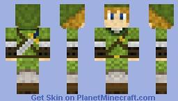 Link from zelda Minecraft Skin