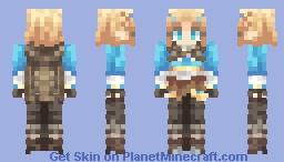 Zelda w/ Cape + Short Hair (Breath of the Wild 2) Minecraft Skin