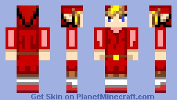 Minish Cap Style Link - Red Minecraft Skin