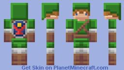 [GBA] The Legend of Zelda - Link Minecraft Skin