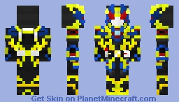 Kamen Rider Zero-One Shining Assault Hopper Minecraft Skin