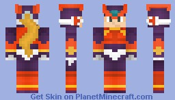 Mega Man Zero Minecraft Skin