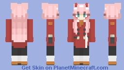 Zero Two | Darling in the Franxx Minecraft Skin