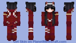 Brunette Zero Two Minecraft Skin
