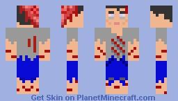 Awesome zombie 3d brain Minecraft Skin
