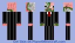 Zombie pigman in a suit