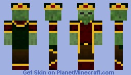 Zombie King Dark Minecraft Skin