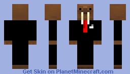 warlus in a suit Hatventures youtube channel Minecraft Skin